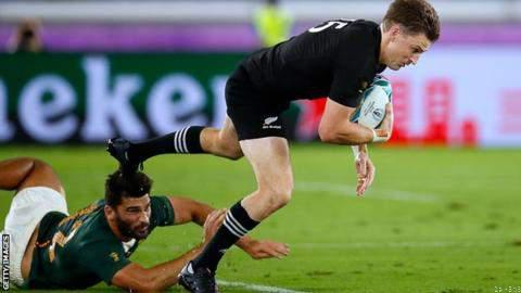 New Zealand beat South Africa in Rugby world cup