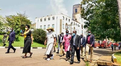 Fire gives an opportunity to rebuild Makerere University, says Museveni 's wife