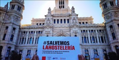 Spain's hospitality arm is protesting in the second wave of the virus