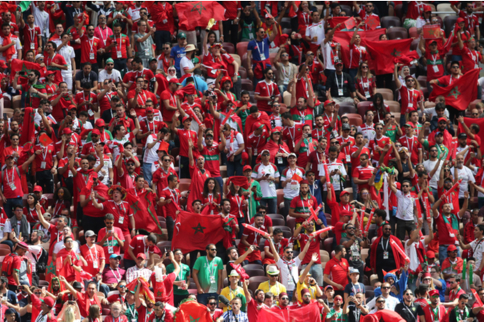 Morocco fans during the Fifa World Cup Russia 2018