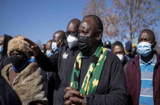 The president of South Africa,Cyril Ramaphosa visits looted Soweto malls