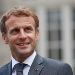french president emmanuel macron meets abu dhabi's crown prince sheikh mohammed bin zayed al nahyan in fontainebleau