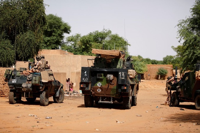 file photo: french soldiers patrol in the streets of gossi, mali