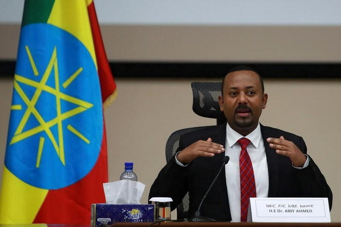 file photo: ethiopia's prime minister abiy ahmed speaks during a question and answer session with lawmakers in addis ababa